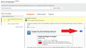Bing Webmaster SEO Analysator